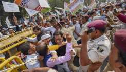 Kushwaha supporters protest against Nitish Kumar