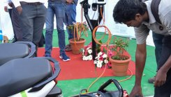 E-vehicle charging station at Vidhana Soudha launched