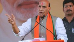 Temples and cows are integral part of BJP: Rajnath
