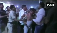 WATCH: Man thrashed after slapping Union minister