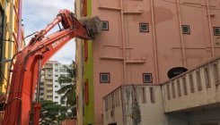 Five-storeyed building tilts in Marathahalli