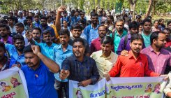 Students, faculty stage protests against KPSC decision