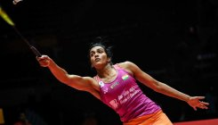 Sindhu in title round, Verma bows out