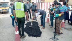Whitefield residents fix potholes on their own