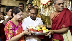 Thousands throng Chamundi Hills for first Ashada Friday