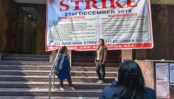 PSB officers on strike, protesting merger