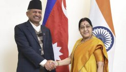 Swaraj, Nepalese FM review bilateral projects