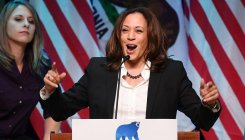 Kamala Harris dons her running shoes