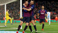 Dembele sparkles but Messi needed off bench for rescue