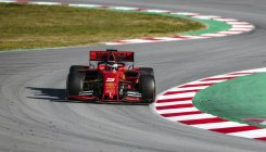 Sebastian Vettel happy with first day's testing