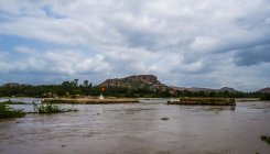 Discharge from TB Dam submerges structures in Hampi