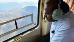 CM conducts aerial survey of Bandipur