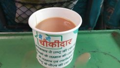 EC notice to railways on cups with chowkidar slogan