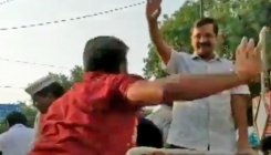 Arvind Kejriwal slapped during roadshow in Delhi