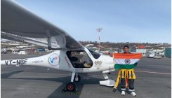 Mumbai girl becomes first solo to cross Atlantic