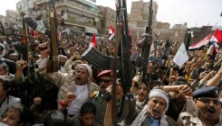 Yemen rebels say drone hits arms depot at Saudi airport