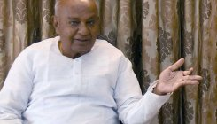 Deve Gowda tells grandson Prajwal Revanna not to resign