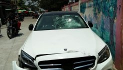 Villagers storm varsity after student's Merc hits rider