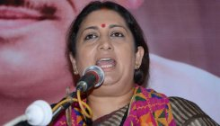 Smriti urges BJP workers to exercise restraint