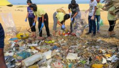 Volunteers clear garbage, debris on Tannirbavi beach