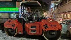 Road-roller on Church St: Driver booked