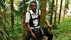 Farmer develops 'Bike' to climb arecanut trees