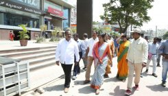 Mayor inspects Bannerghatta road work