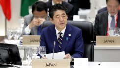 Japan PM Abe calls for strong G20 message on free trade