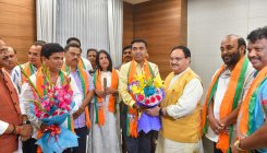 Cong rebels inducted in BJP; Goa ruling allies nervous