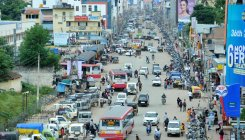 Choked roads trouble motorists in Chikkamagaluru