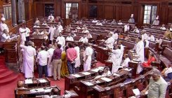 Rajya Sabha adjourned till 2 pm over Karnataka issue