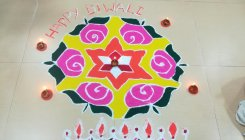 Rangoli, a colourful science of symmetry