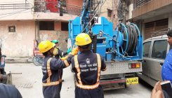 Small jetting machines to tackle manhole blockage