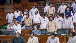 Cong seeks PM's statement on Kashmir, walks out of LS