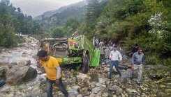5 dead, 24 missing as bus plunges into Trishuli river