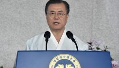 South Korea's Moon offers an olive branch to Japan