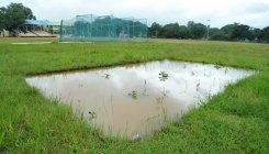 Chikkamagaluru district stadium in a mess