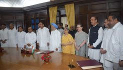 Manmohan Singh takes oath as RS MP for sixth time