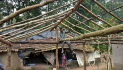 At tribal hamlets, rain washes away houses, jobs