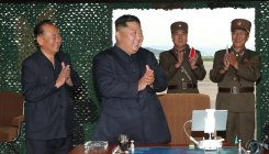 NK's Kim oversaw 'multiple rocket launcher' test: KCNA
