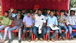 DYFI stages protest demanding jobs for locals