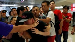 Fights break out as Hong Kong's polarisation deepens