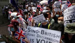 'God save the queen': HK protesters wave Union Jack