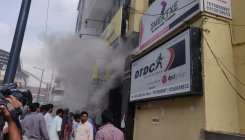 Close shave for hundreds after fire in MG Road building