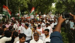 Slowdown: Youth Cong protests near Sitharaman's home