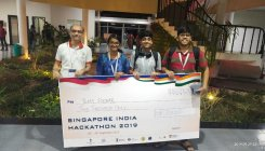 Students bag 6th prize at India-Singapore hackathon