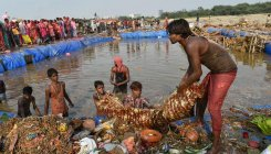 Not much artificial ponds for idol immersion: Activist