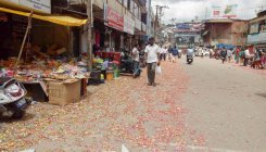 Madikeri covered in litter after Dasara celebrations