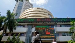 Sensex soars over 400 pts; TCS falls 3 pc