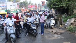Now, mayor inspects Bannerghatta Road on scooter